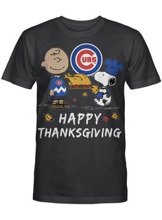 Happy Thanksgiving Snoopy Cubs Football Team Gift For Kids Football Fan T Shirt Graphic T-shirt