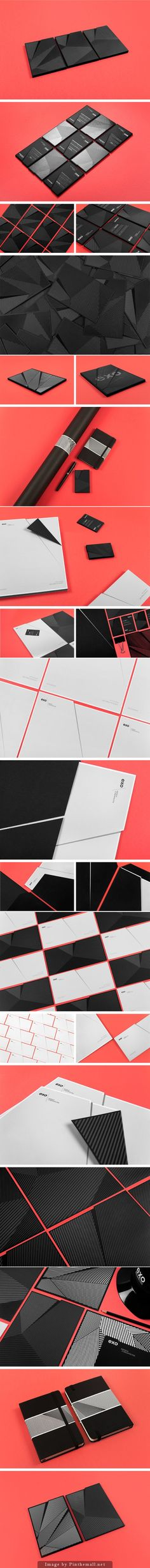 dimensional business cards  Branding by Murmure for EXO, a French Architectural Agency