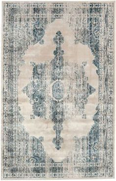 Rugs USA Beaumont Medallion VI05 Ivory Rug Rugs USA, new, trend, home decor, interior design, discount, style, pattern, color, bold, modern, trellis, love, create, inspire, get the look, room, bloggers, pin.