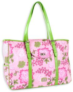 "emilie sloan of seattle. the ""everyday tote in pink dahlia."" love."