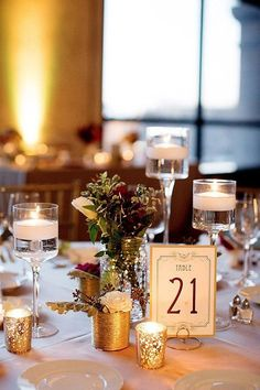 SET OF 12- Wedding round shaped table number holders
