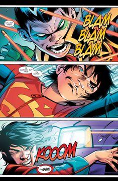 Super Sons _Annual 1 - Read Super Sons _Annual 1 comic online in high quality Damian Wayne Batman, Son Of Batman, Batman Family, Superman, Arte Dc Comics, Batman Comics, Comic Superheroes, Online Comic Books, Comics Online