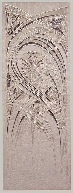 Embroidered panel design by Hector Guimard, produced in 1900