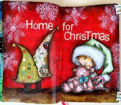 JIJI Cards - Art Journal Page 19: Christmas #mosdigitalpencil