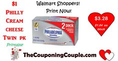 Printable Philadelphia Cream Cheese coupon!! Get a great deal at Walmart on dble pack or use at your favorite store!  Click the link below to get all of the details ► http://www.thecouponingcouple.com/new-philly-cream-cheese-coupon-hot-walmart-deal/  #Coupons #Couponing #CouponCommunity  Visit us at http://www.thecouponingcouple.com for more great posts!