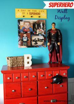 I Dig Pinterest: Superhero Wall Display