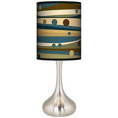 Dots & Waves Giclee Droplet Table Lamp - #K3334-K9806   www.lampsplus.com
