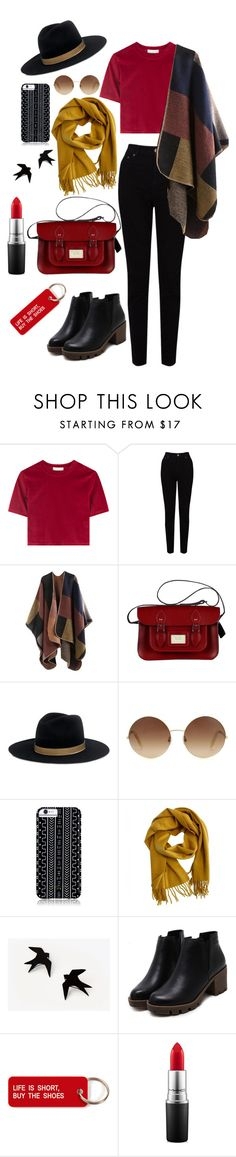 """red is the new black"" by marielaznickova on Polyvore featuring EAST, Janessa Leone, Victoria Beckham, Savannah Hayes, Hermès, Various Projects and MAC Cosmetics"