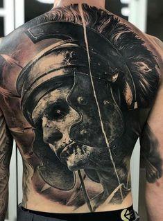 Tattoo Uk, Full Tattoo, Full Back Tattoos, Back Tattoos For Guys, Tattoo Care, Small Girl Tattoos, Dark Tattoo, Cool Chest Tattoos, Badass Tattoos