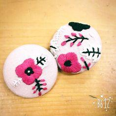 Flower Broach. Needlework.