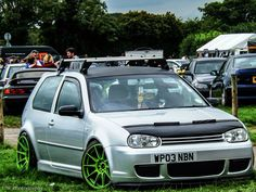 #Volkswagen #Golf #Stance #Slammed #Modifed with aftermarket rims and body kit