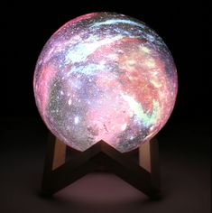 Galaxy Moon Lamp™ - 3 colors This moon lamp pulls in the light from nearby stars. With 3 color changing options to set the mood, our Galaxy moon lamp. Mood Light, Led Night Light, Moon Light Lamp, 3d Globe, Moon Globe, Galaxy Bedroom, Galaxy Lights, Neon Room, Galaxy Painting