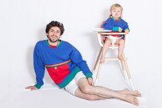 this is genius! New York artist Matt Starr created a stir in the fashion world this month by sharingan image of himself and his friend's daughter modeling the same outfit.