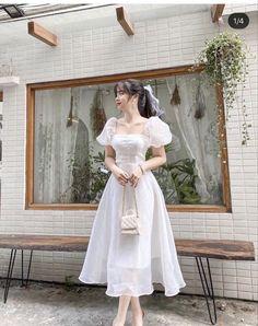 Korean Fashion Dress, Korean Dress, Kpop Fashion Outfits, Korea Fashion, Cute Fashion, Fashion Dresses, Elegant Dresses Classy, Classy Dress, Simple Dresses