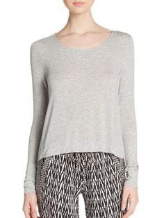 ELLA MOSS Boxy Heathered Top. #ellamoss #cloth #top