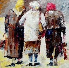 Drie ouderen | Cees Bouman | Kunstzinnig.nl