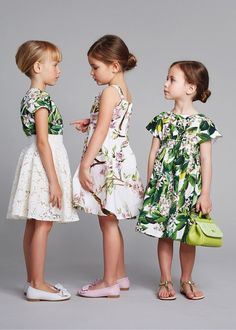 Dolce & Gabbana for girls. Too cute.