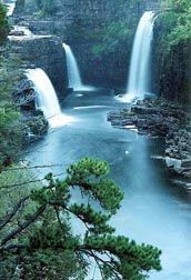 Ausable Chasm, NY. It really does look like this, it's beautiful!