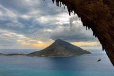 Instagram Photo by @vertical_sailing_tour: Unmistakable #telendos seen from #grandegrotta in #kalymnos  memories of our last tour.  @paolosartophoto climber @federica_mingolla  #climbing #rockclimbing #climbingtrip #climbing_pictures_of_instagram #insta_kalymnos #climbinglovers #girlwhoclimb #rock #doyouclimb #climbing_is_my_passion #climbandsail #vertical_sailing_tour. Shop rock climbing gear at RockClimbingPros.com