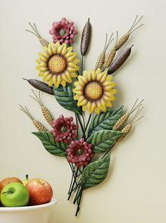 sunflower kitchen decor | Metal Sunflower Art Kitchen Wall Decor from Collections Etc.
