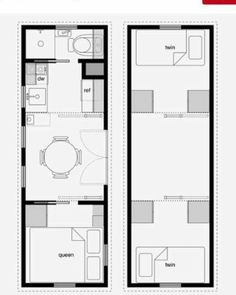 In love with this tiny house idea! But instead of the queen bedroom on the main floor make it the den/office/communal closet. Use a gooseneck trailer and extend the upstairs loft for the master room. I would also love having one set of stairs and a catwalk connecting the lofts. Dreams <3  #tinyhouse  #tinyhousemovement #tinyhouseideas #tinyfamilyhouse #livingtinywithkids #livingtinywithchildren #livingtiny  #tinylife #goosenecktrailer #tinyhomemovement #tinyhouse2lofts #tinyhousetwolofts by…