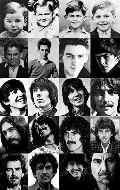 George Harrison through the years