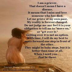 I am a griever.