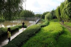 The Floating Gardens—-Yongning River Park, Taizhou City, Zhejiang Province, China by Turenscape. Landscape Architecture Jobs, Plans Architecture, Landscape Plans, Urban Landscape, Landscape Design, Landscape Architects, Park Landscape, Chinese Landscape, Perth
