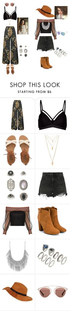 """""""bohemian cochella outfits #1"""" by treasurematlock ❤ liked on Polyvore featuring Lipsy, Billabong, Forever 21, Topshop, Alexander Wang, Laurence Dacade, Lucky Brand and Christian Dior"""