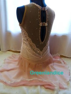 Back View Apricot Lexie dress