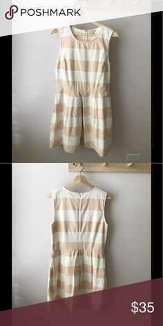 Gap Summer Dress Sleeveless Gap dress with pleats. Pink and white stripes. GAP Dresses