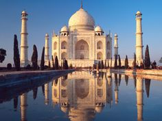 The Taj Mahal, Agra, Uttar Pradesh, India.  Because it's beautiful.