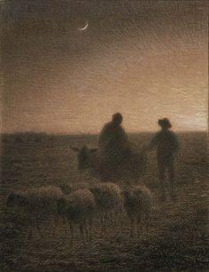 sheep in Twilight, Jean-François Millet