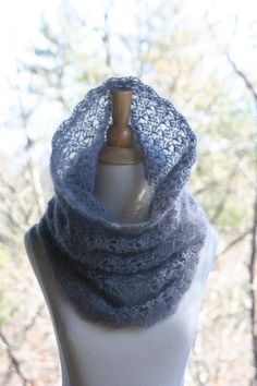 Crochet Cowl Scarf Super Kid Mohair and Silk by crochetgallery, $40.00