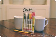 How to Make DIY Sharpie Mugs | Are Sharpie Mugs Dishwasher Safe? - could use it for pencil jar as gift so no issues with washing?