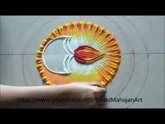 Super easy,small and attractive diya rangoli design for diwali festival Happy Diwali Rangoli, Easy Rangoli Designs Diwali, Rangoli Designs Latest, Rangoli Designs Flower, Free Hand Rangoli Design, Small Rangoli Design, Rangoli Ideas, Colorful Rangoli Designs, Rangoli Designs Images