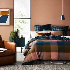 Home Republic - Oban Check Quilt Cover Set Duvet, Linen Bedding, Queen Bedroom, Bedroom Sets, Bedrooms, Double Quilt, Home Republic, Kaleidoscope Quilt, Single Quilt
