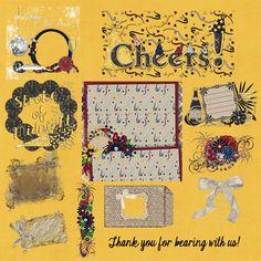 Scrapbooking TammyTags -- TT - Designer - 4 My Babies Scraps,  TT - Item - Element, TT - Style - Cluster, TT - Theme - New Year
