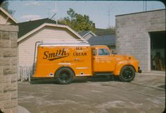 This is the truck my Dad drove when he worked for Smith Ice Cream.