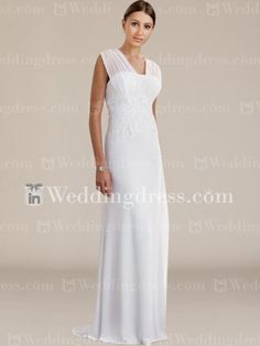 Elegant Chiffon Summer Bridal Gown with Lace BC027
