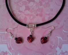 Resin Heart Necklace & Earring Set £12.00  By Lisa Jane