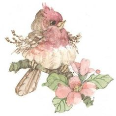 Little Rosie ~ Carolyn Shores Wright by esperanza Funny Birds, Cute Birds, Bird Drawings, Cute Drawings, Illustration, China Painting, Bird Pictures, Watercolor Bird, Vintage Birds