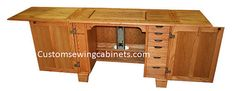 Sewing Machine Cabinet  quilting and embroidery furniture by CustomSewingCabinets on Etsy