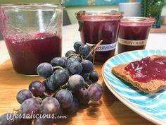 Zelfgemaakte druivenjam - Wessalicious Pickels, Chutney, Plum, Lunch, Healthy Recipes, Homemade, Breakfast, Desserts, Fruit Bewaren