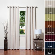 Solid Grommet Top Thermal Insulated Blackout Curtain 95