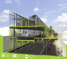 Fortified Infrastructure: Exploring Urban Agriculture through Underutilized Transit Surfaces (Architecture Thesis) | Michelle Carroll | Archinect