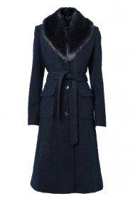 Removable Fur Boucle Coat