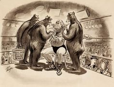JOHN RUGE - Without a Doubt, It's the Greatest Act in Wrestling Today, Playboy - item by fineart. Goldilocks And The Three Bears, Fair Grounds, Playboy, Artist, Cartoons, Wrestling, Painting, Lucha Libre, Cartoon