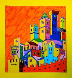 arteascuola: Art revisited: The city of Giotto Love the colors
