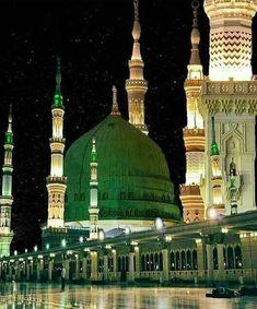 Where did Prophet (PBUH) stay in Madinah? Islamic Images, Islamic Qoutes, Islamic Pictures, Islamic Art, Al Masjid An Nabawi, Mecca Masjid, Masjid Al Haram, Beautiful Mosques, Beautiful Places